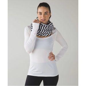Lululemon Vinyasa Scarf Apex Black Stripe Zip